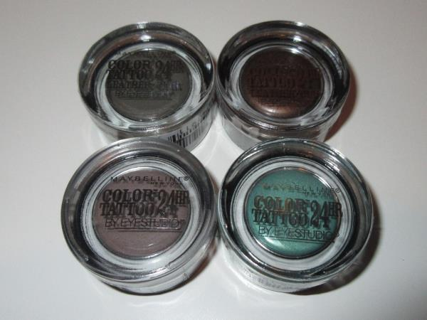 MAYBELLINE 24 Hour TATTOO Eyeshadow ~Lot of 4 Different ~ 35,50 ...