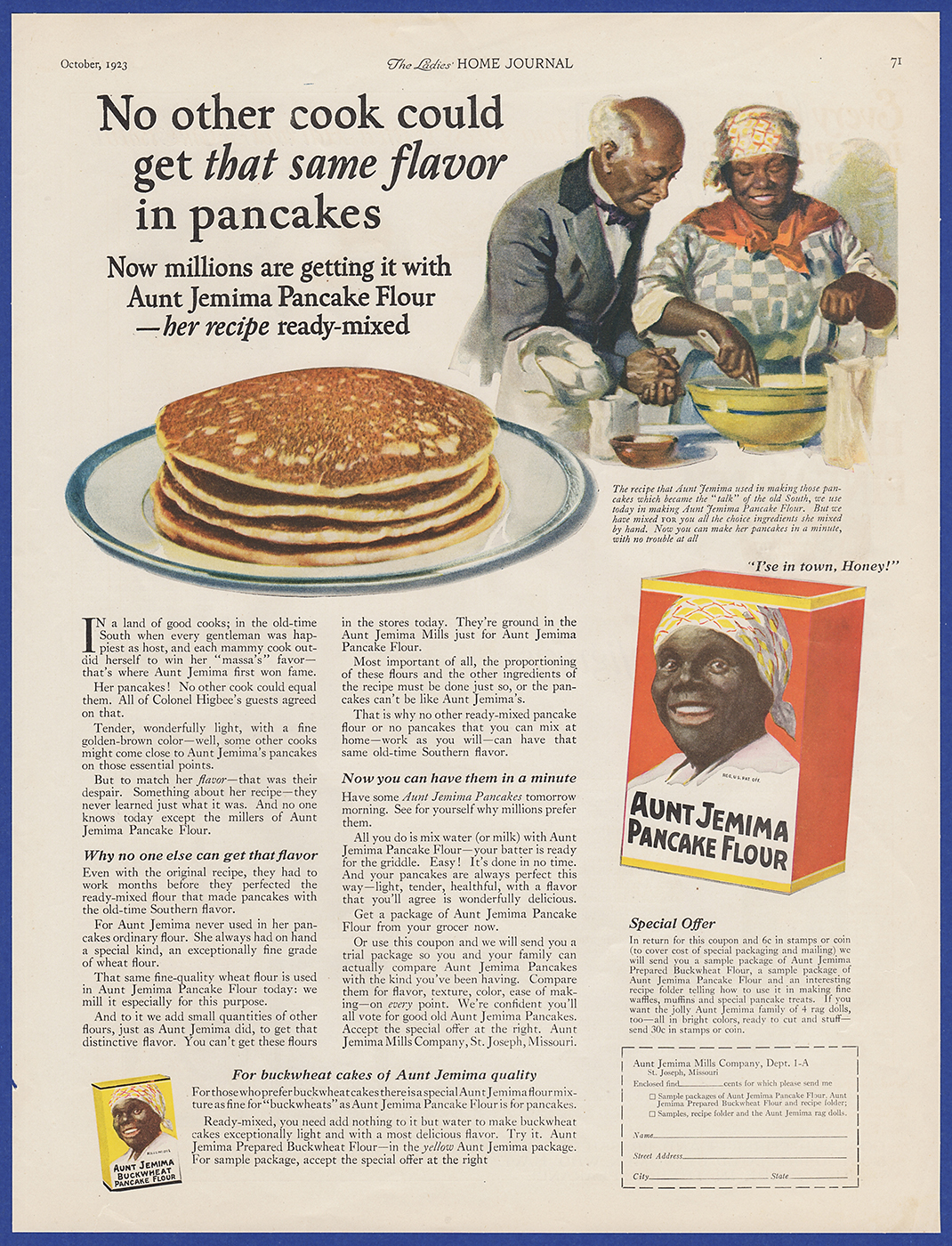 Vintage 1923 aunt jemima pancake flour kitchen art decor print ad i combine shipping at no extra charge add 3 or more print ads to the cart and receive free shipping at checkout ccuart Gallery
