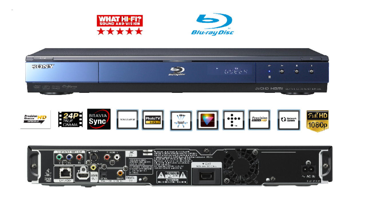 Details about Sony BDP-S350 Blu-Ray DVD Multi Region Disc Player 1080p Full  HD HDMI 7 1ch