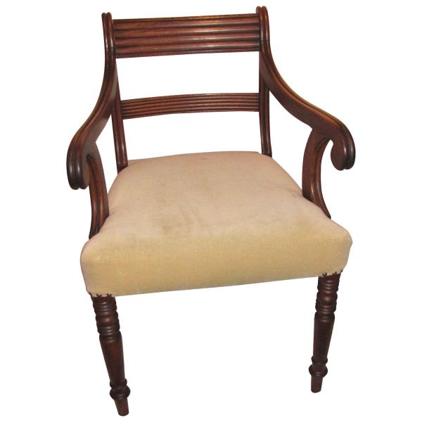Awesome Details About Antique English Georgian Mahogany Armchair Circa 1815 Machost Co Dining Chair Design Ideas Machostcouk