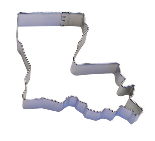 Details about Louisiana Shape Cookie Cutter 3.25