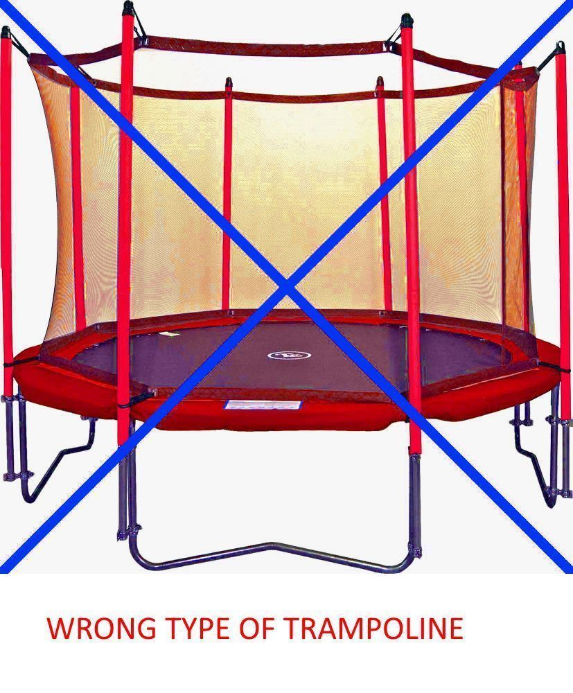Trampoline Safety Net Replacement: 8Ft 10Ft 12Ft 14Ft Replacement 6 8 Pole Trampoline Safety