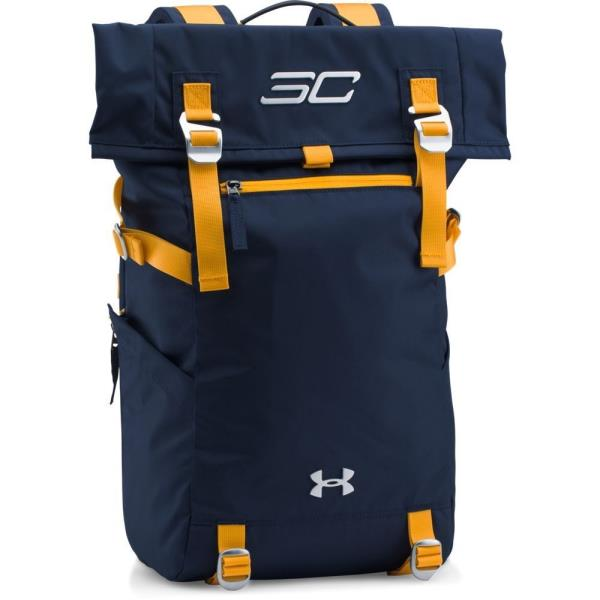 e08edfa97ac6 Details about  1300225-410  New UA Under Armour SC30 Signature Rolltop  Backpack - Navy Gold