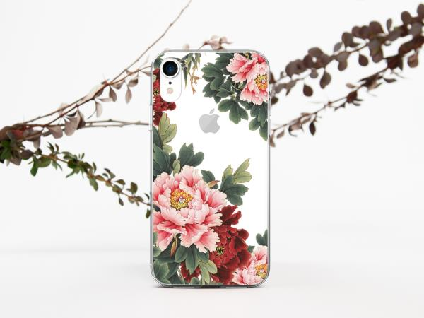 best loved 38360 b33e2 Details about Cute Flowers iPhone XS Max Case Peony iPhone 7 8 Plus Case  Floral iPhone X Cover