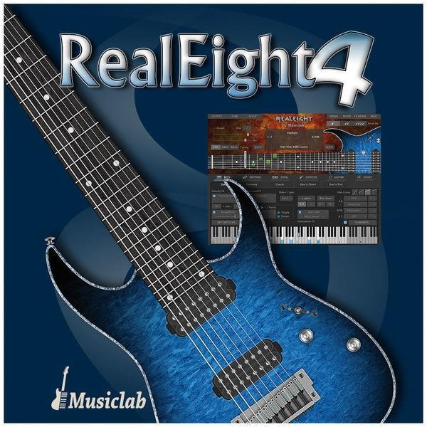 Details about New MusicLab REALEIGHT - 8-String Electric Guitar Virtual  Mac/PC AAX AU VST