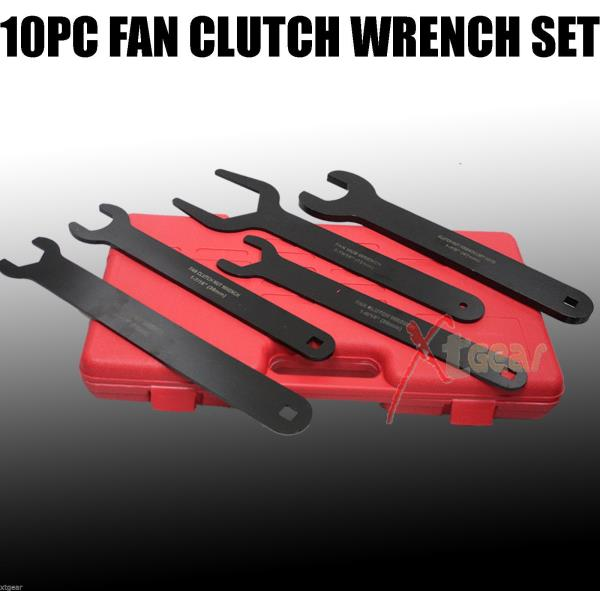10 pcs Fan Clutch Wrench Set Foreign /& Domestic Clutch Remover Installer