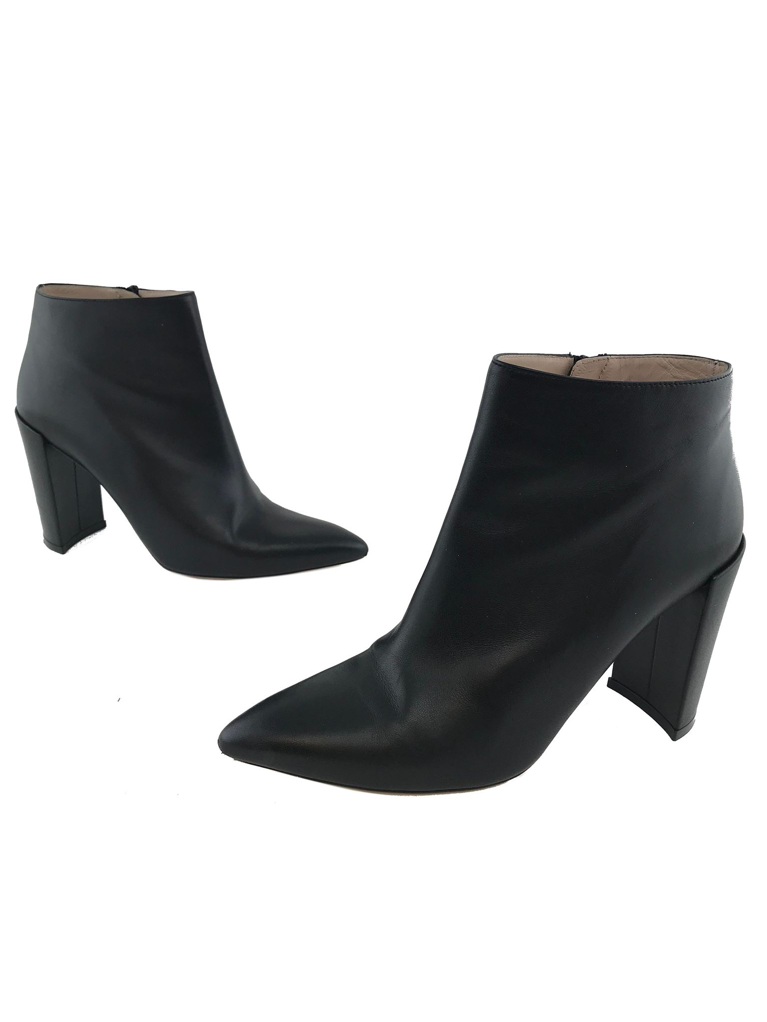 c85cd5d0bdc Stuart Weitzman Block-Heel Leather Ankle Bootie Size 9. Liquid error  Index  was out of range. Must be non-negative and less than the size of the  collection.