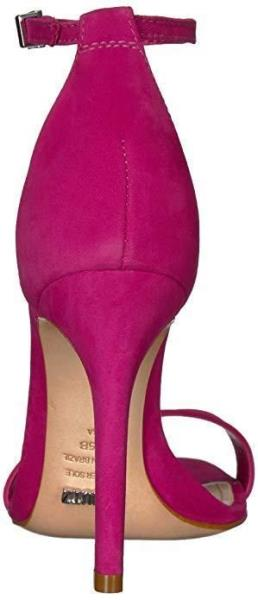 SCHUTZ Cadey Lee Fucshia Rose Simple Strappy Ankle Strap Single Sole Heel Sandal
