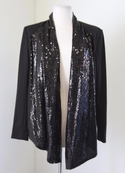 black with open drapes doublju dp at for front classic plus small draped women blazer size