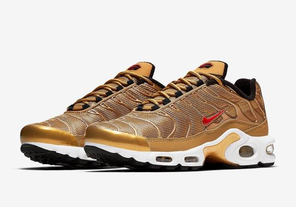 cf5a694241c28a Nike Air Max Plus QS Gold Sz 7-12 1 Tuned Tn EUROPE EXCLUSIVE 90 Vapormax.  100% AUTHENTIC OR MONEY BACK GUARANTEED