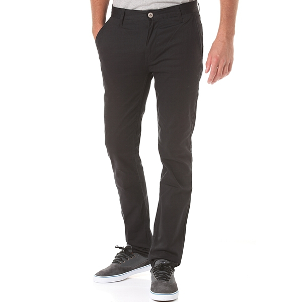Emerica Pants Pure Slim Chino Black Mens Skateboard Bmx Chinos