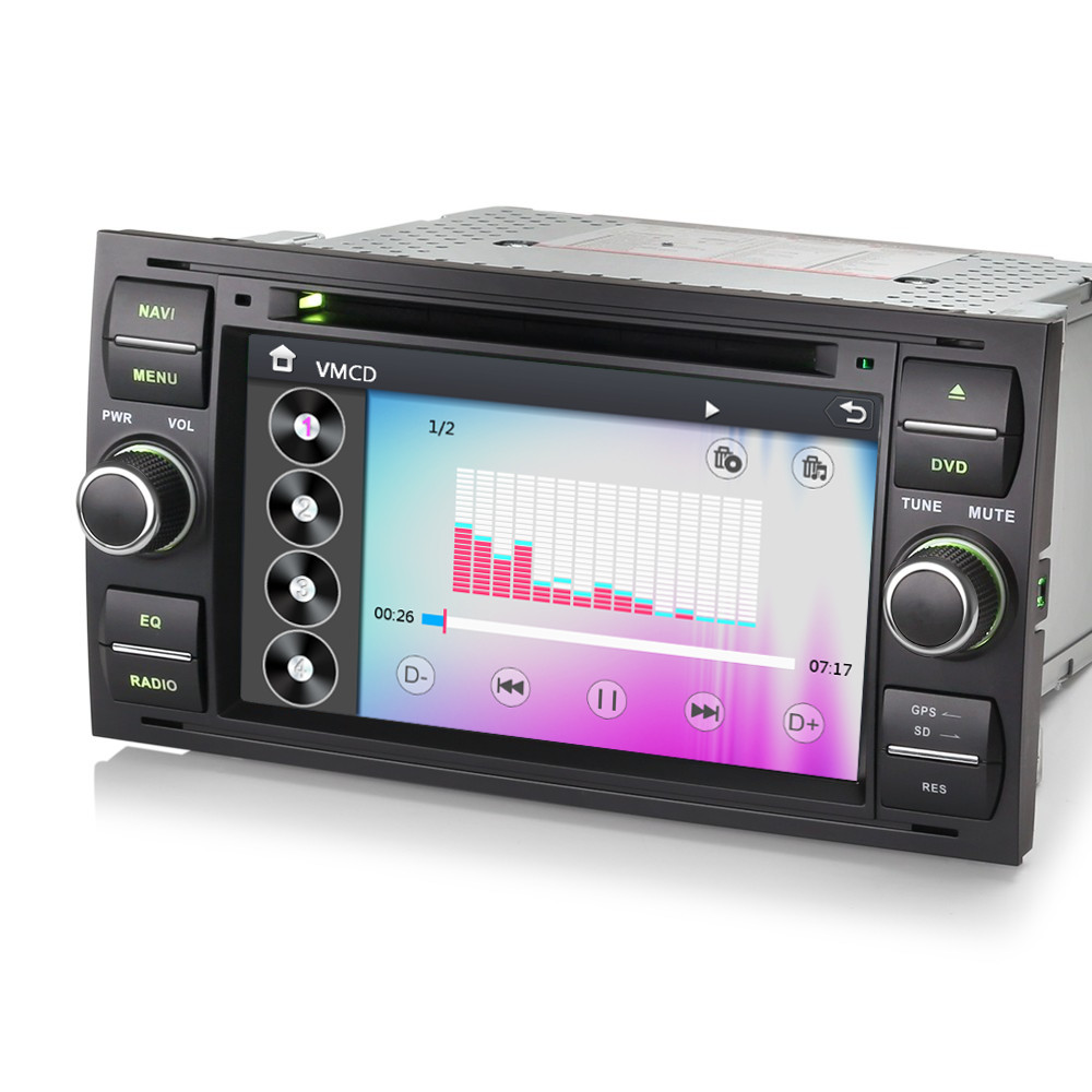 7 gps sat nav head unit bluetooth dvd stereo for ford. Black Bedroom Furniture Sets. Home Design Ideas