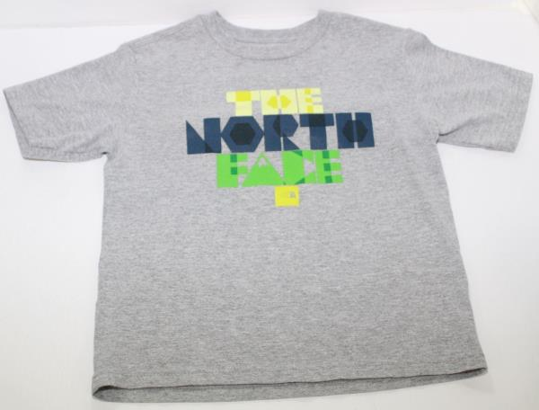 b10f33313 The North Face Boys Crew Neck Short Sleeve Gray T Shirt Size Youth ...