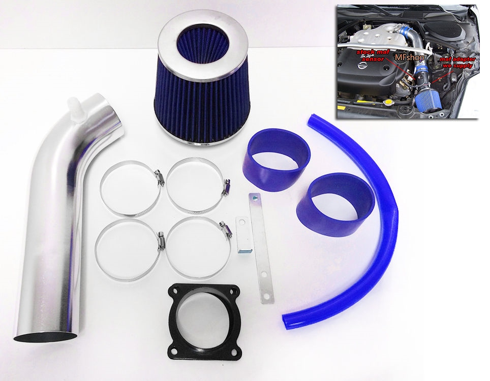 Blue Air Intake Kit /& Filter For 2003-2006 Infiniti G35 with 3.5L V6