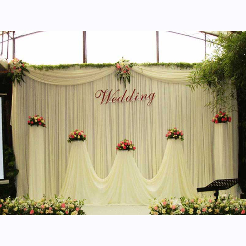 Used Wedding Backdrop Curtains: White Wedding Party Backdrop Curtain Drapes Background