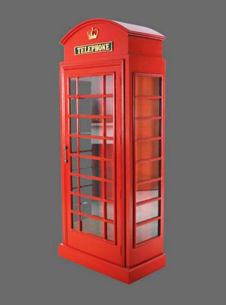 British Phone Booth Cabinet London Red Telephone Box 6ft Display