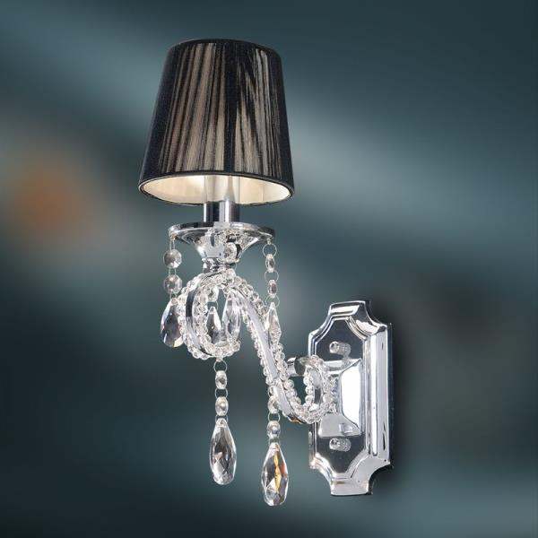 Crystal Wall Lamp - K9 Crystal Chandelier Wall Sconce - Polished ...