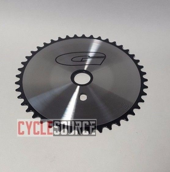 44T G Sprocket Chainring GT Style Chrome//Black Beach Cruiser Lowrider BMX