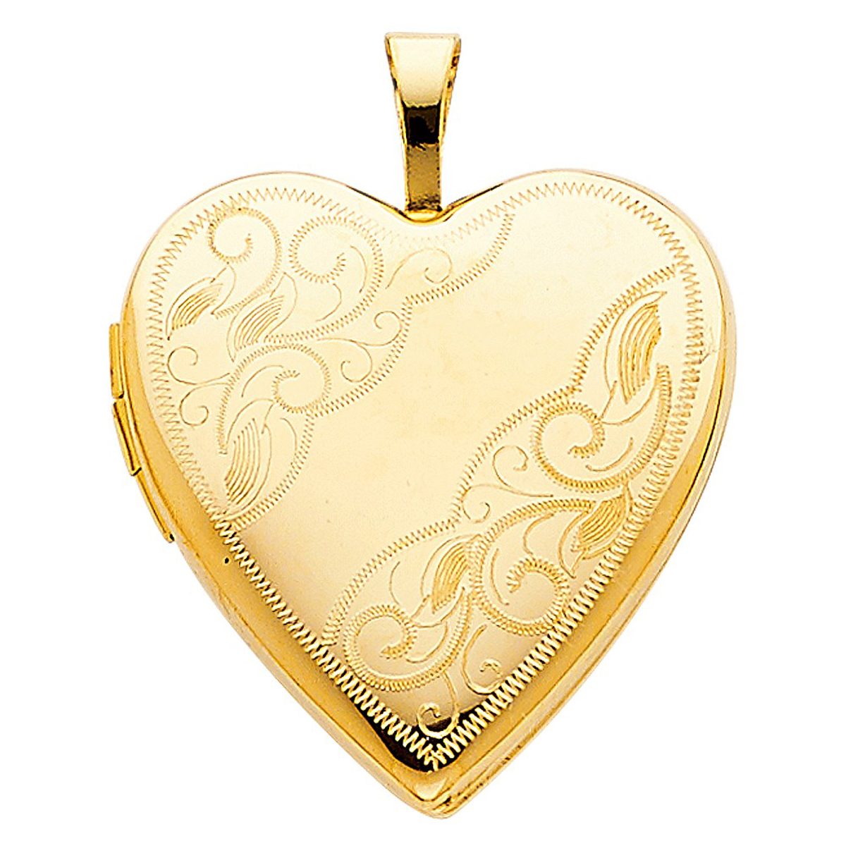 Genuine 14k Solid Three Tone Tri-color Gold Flower Heart Charm Loves Day Pendant
