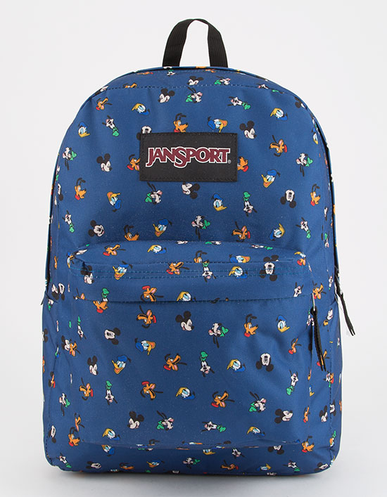 Jansport Backpack Superbreak Disney Gang Dot Skate School Travel Bag FREE POST