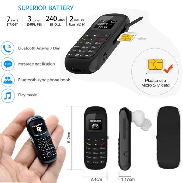 Image result for Mini Mobile Cell Phone Wireless Bluetooth Earphone Dialer Wireless Headset BM70