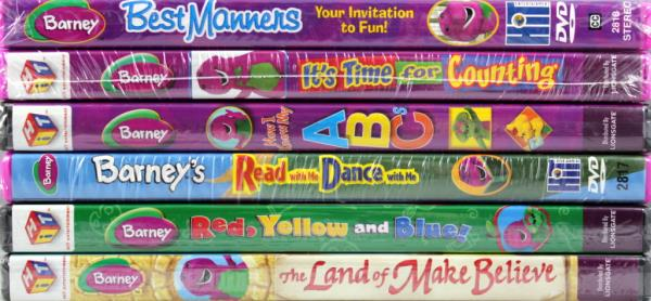 Barney 6 Set New Dvds Manners Counting Abcs Read And