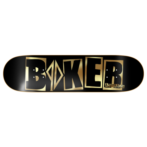 Baker Skateboard Deck PD Icon Black Gold 8.25 Piss Drunx RRP 120 FREE GRIP POST