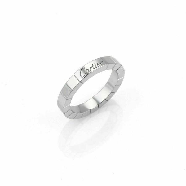 432edd53df8b6 Details about Cartier Lanieres 18k White Gold 3mm Band Ring Size 49 US 5