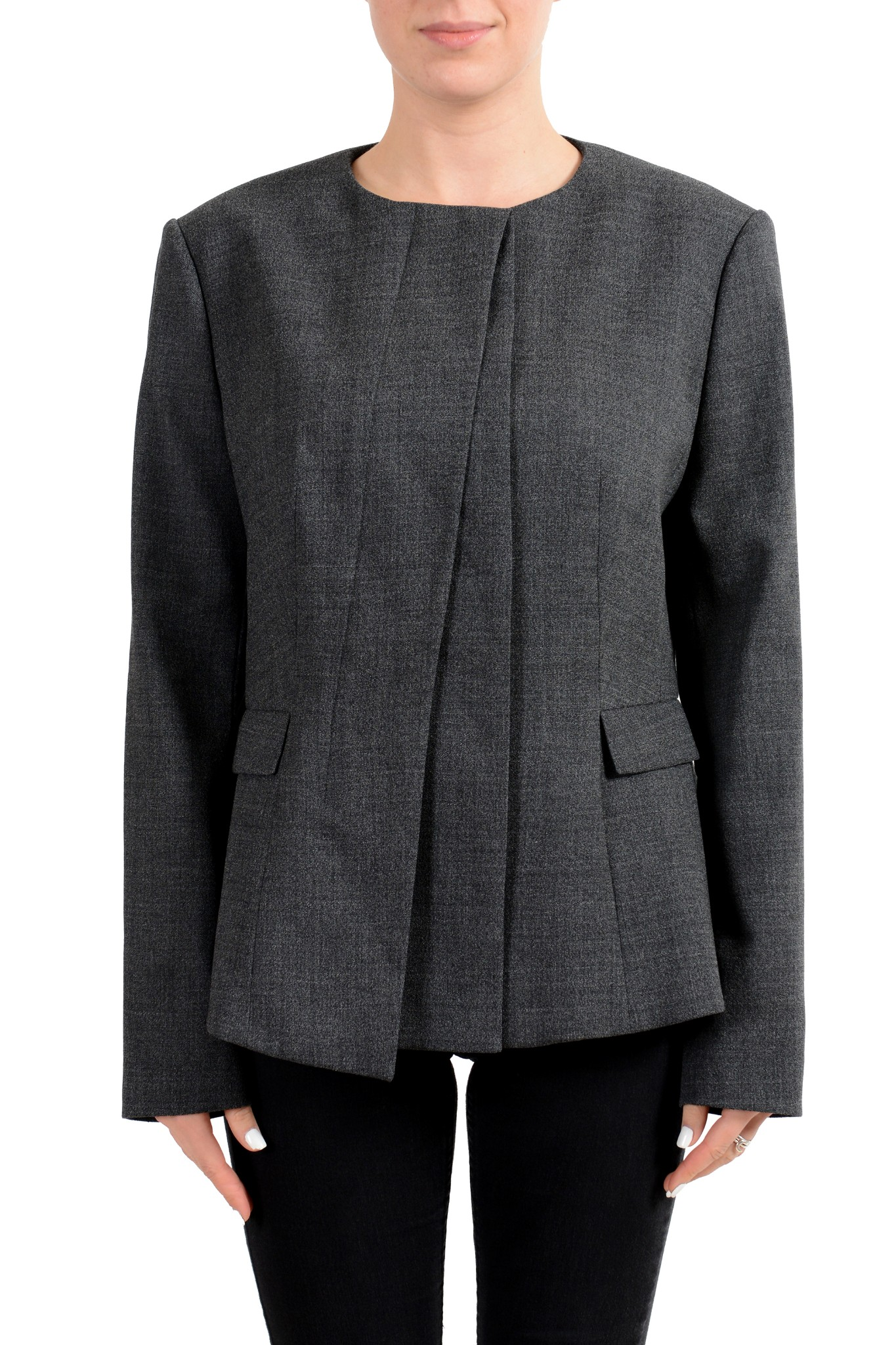 "Hugo Boss /""Janore/"" Wool Gray One Button Women/'s Blazer US 12 IT 48"