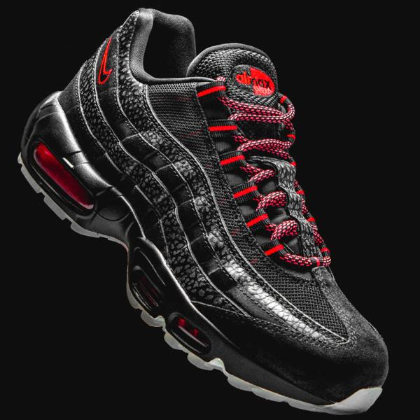 Details about NIKE AIR MAX 95 Infrared black safari Size 7 8 9 10 11 12 Mens Shoes AV7014 001