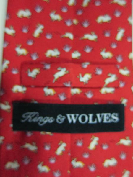 Light Blue Kings and Wolves Mens 100/% Silk Neckties Floret Printed Tie