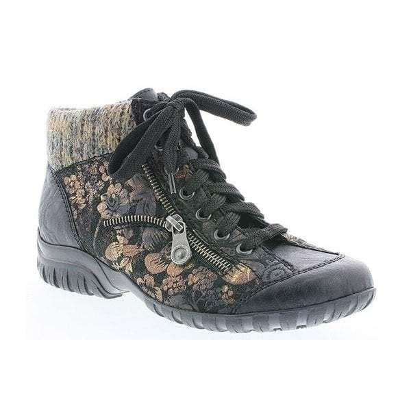 Details zu Rieker L4631 03 BLACK ankle boot with Laces and Zip rrp £65 SALE!