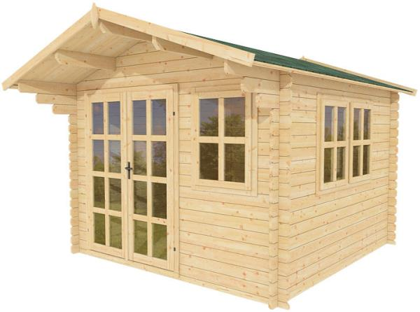 10x10 All Natural Wood Garden Shed Kit, Play, Pool House, Cabana, Storage  Shed