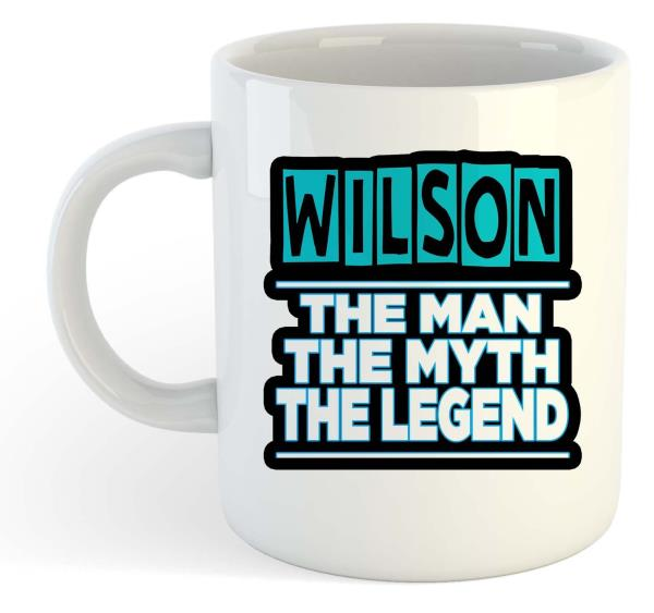 The Man The Myth Geoffrey Name Personalised Funky Gift The Legend Mug