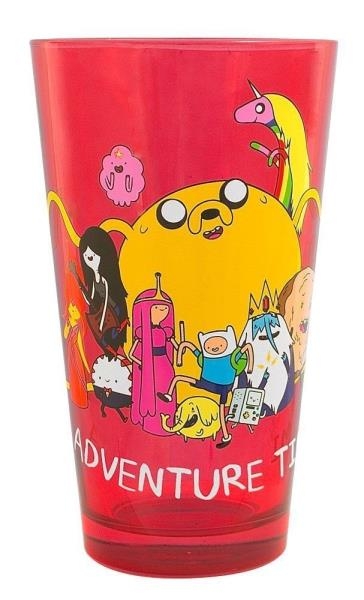 Rick and Morty Black 16 oz Pint Glass with Rick and Morty Figures NEW UNUSED
