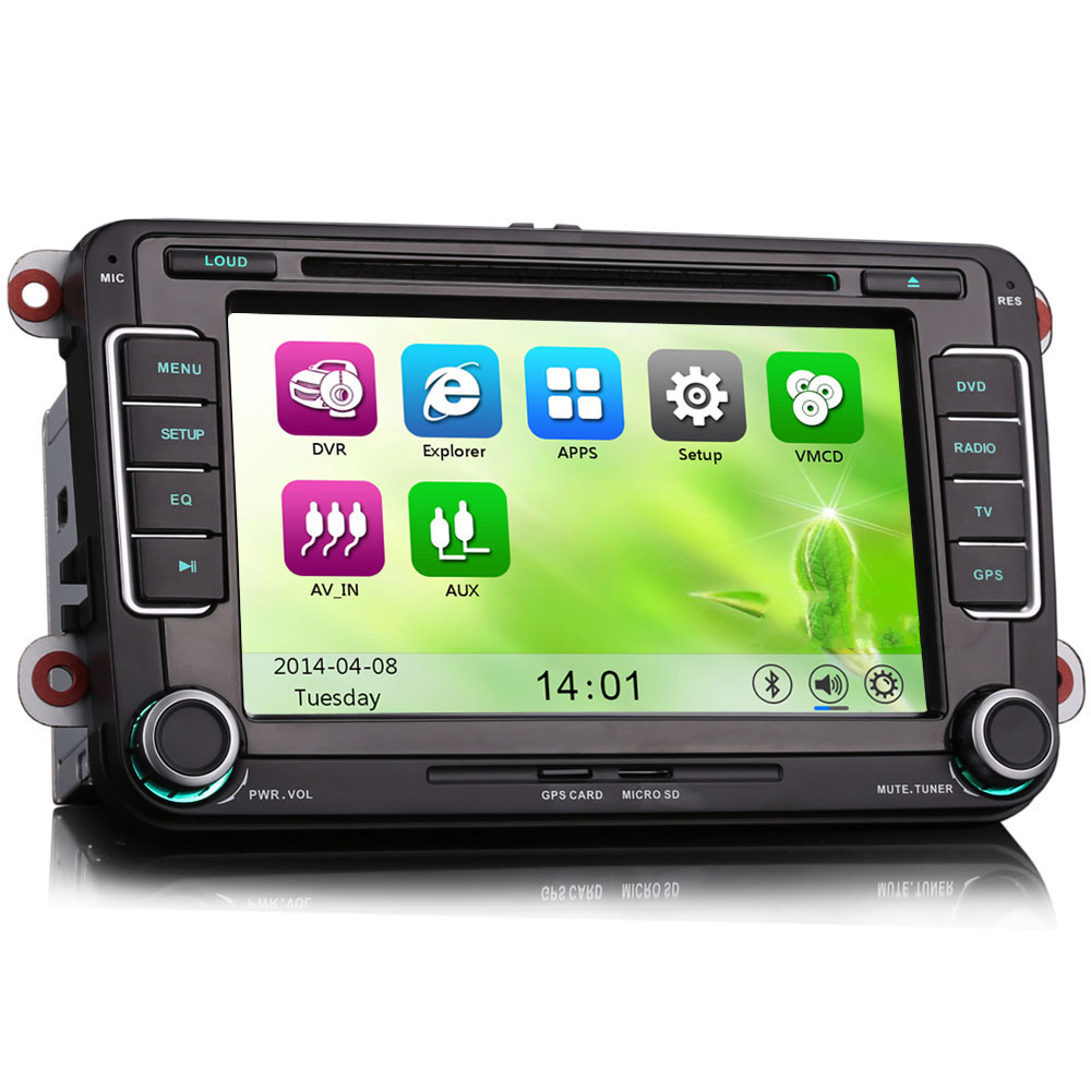 7 gps sat nav car radio dvd player bluetooth stereo for. Black Bedroom Furniture Sets. Home Design Ideas