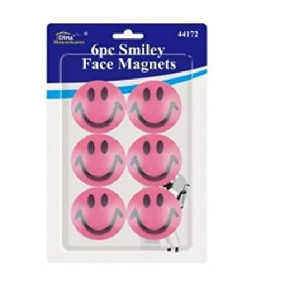 New 6x Fridge Magnets 2inch Cartoon Smiley Face Round Shape Novelty Home Kitchen
