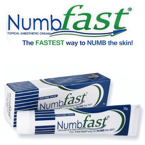 Details about 30g NUMB FAST® PainLess Numbing Cream Painless Tattoo  Piercing Waxing Laser Dr