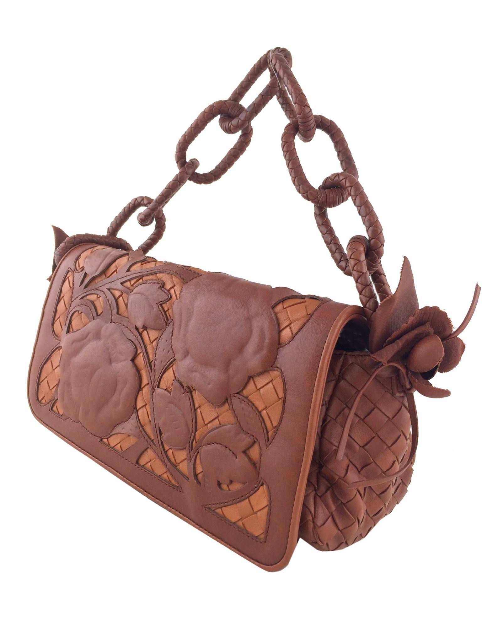284a7df24292 Bottega Veneta Limited Edition Floral Leather Applique Bag. Liquid error   Index was out of range. Must be non-negative and less than the size of the  ...