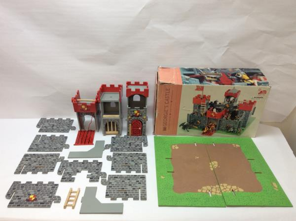 Details About Le Toy Van Georgies Castle Wooden Playset W Box Great For Papo Knight Figures