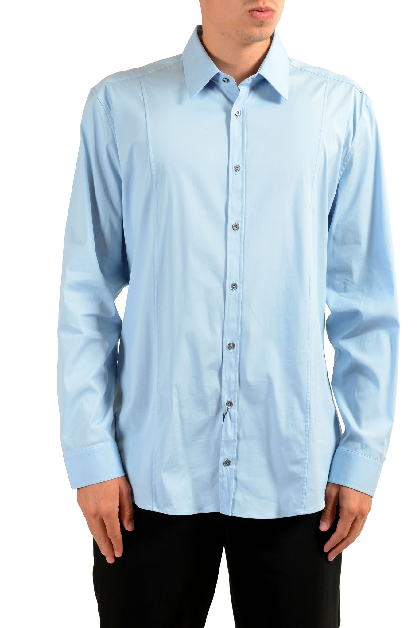 862211bb6 Gucci Men's Light Blue Long Sleeve Dress Shirt | eBay