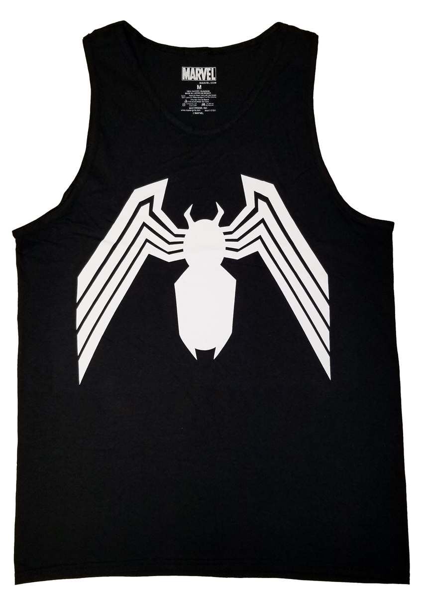 Venom Symbol Spider Man Marvel Comics Adult Tank Top Ebay