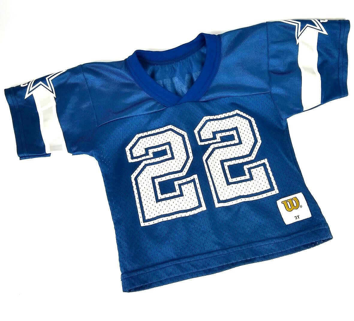 cheap for discount 0867a ba888 Details about Vintage Wilson NFL Cowboys #22 Emmitt Smith Football Jersey  Toddler Size 3T