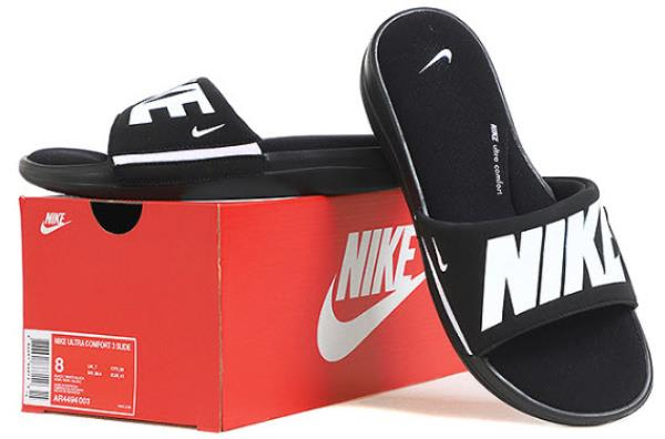 d099f9263973 Details about Nike Men ULTRA Comfort 3 Slipper Black Shoes Beach Slide GYM  Sandales AR4494-003