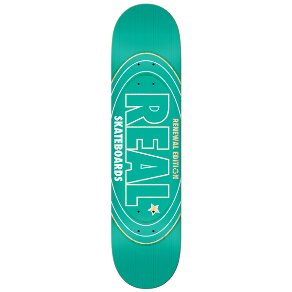 Real Skateboard Deck Renewal Oval 8.25 FREE POST FREE GRIP