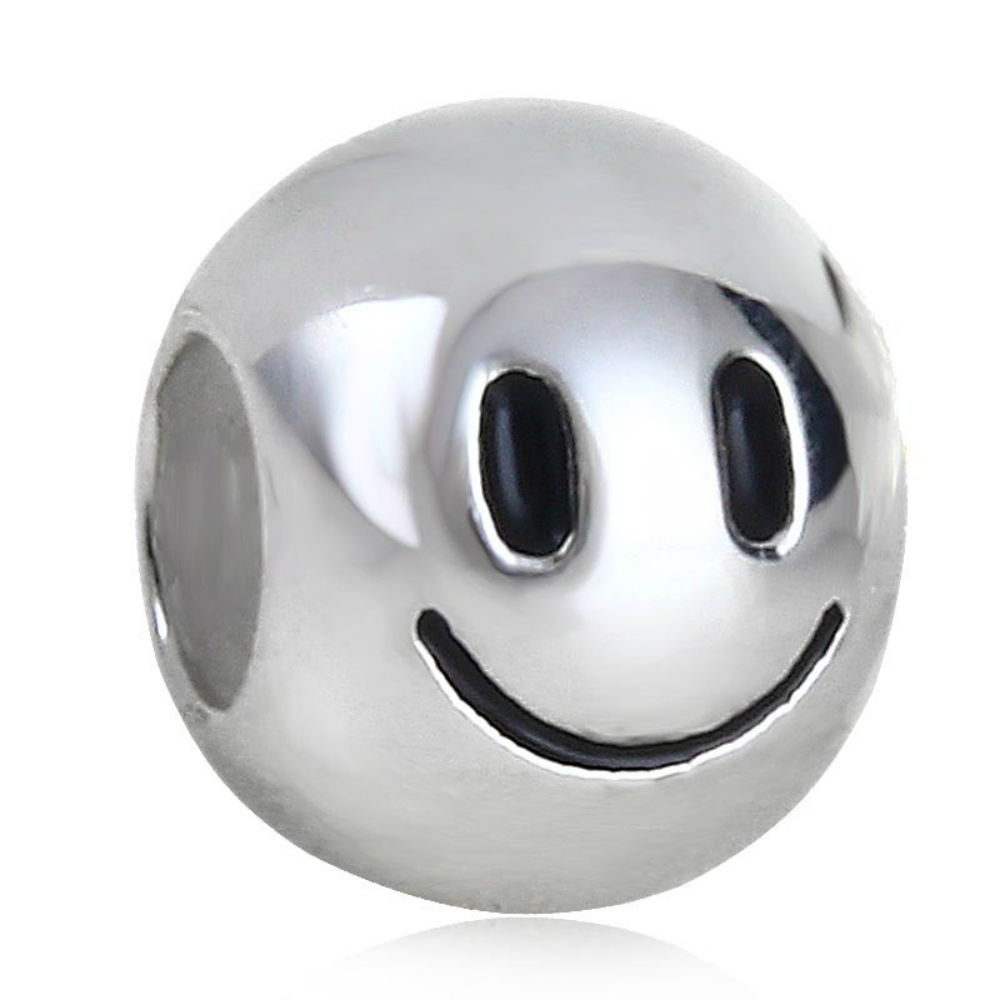 239e4aa0c Details about Genuine Sterling Silver Emoji Smiley Face Bead / Charm - Fun!  Fun! Fun!