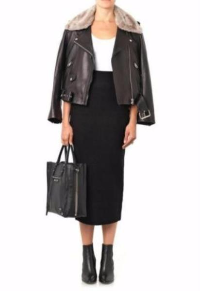 pick up b44ae 91dbb Details about ACNE STUDIOS High Waist Black Wool Mid-Calf Tube Pencil Skirt  UK 8 US 4
