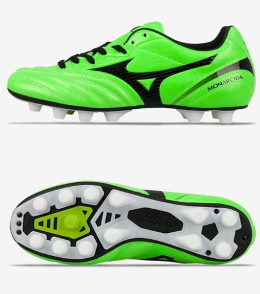 7b6a889bf49 Mizuno Men Monarcida 2 Japan MD Cleats Soccer Green Football Spike ...