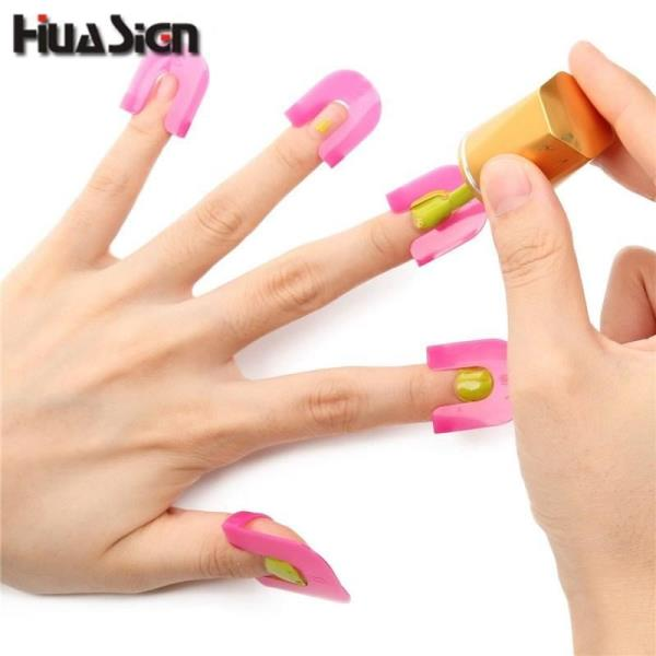 26PCS/Set Manicure Finger Nail Polish Shield Protector Tool Nail Art ...