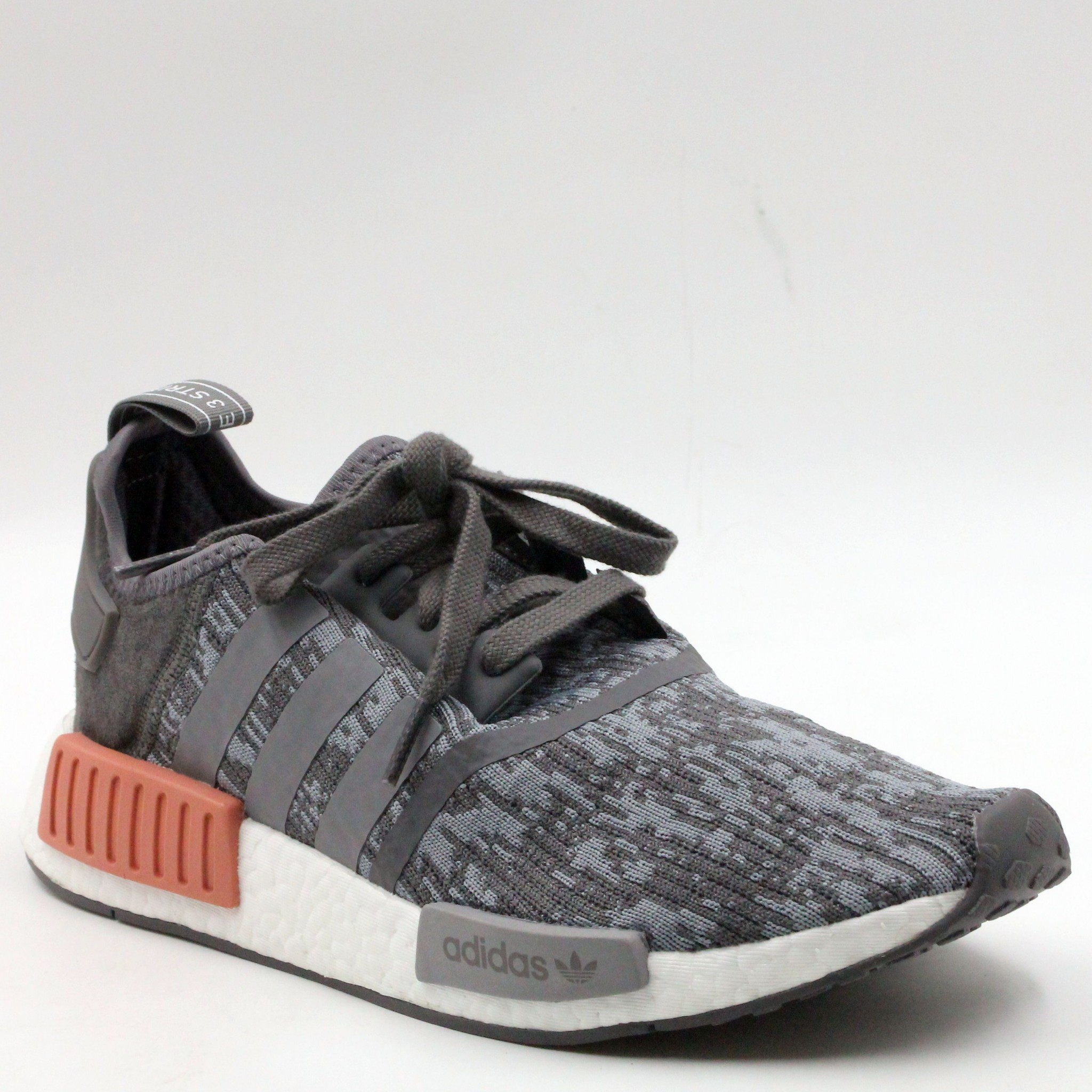 save off 1e388 e98de Details about adidas NMD_R1 Heather Grey Raw Pink Women Running Shoes US  9.5 BY9647